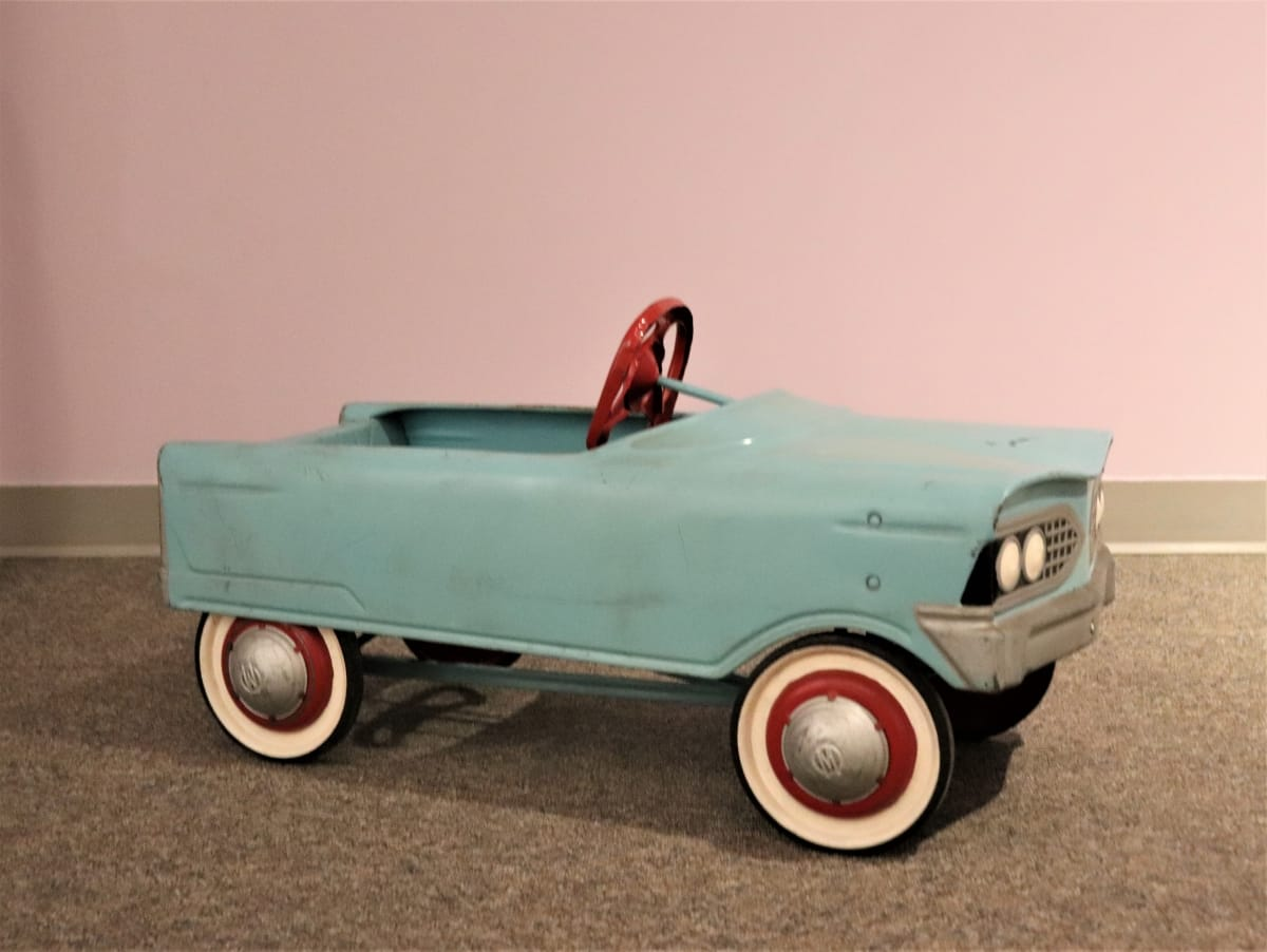 V-Front T-Bird Metal Pedal Car - 1960