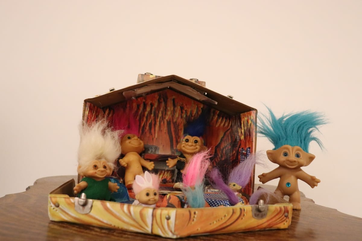 Troll Doll Cave with Trolls – 1964